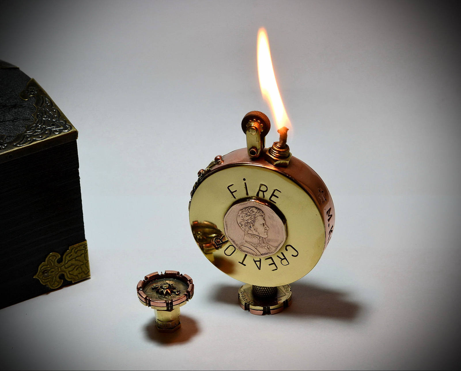 Chinese Style Wooden Lighter - Steampunk Lighter